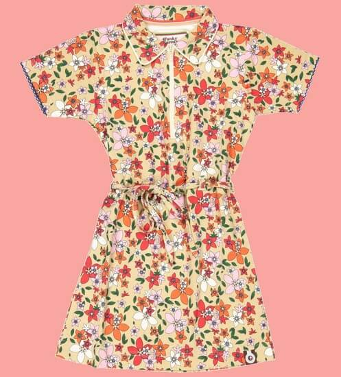 Kindermode 4funkyFlavours Sommer 2020 4funkyFlavours Kleid Do Better Flowers #5766