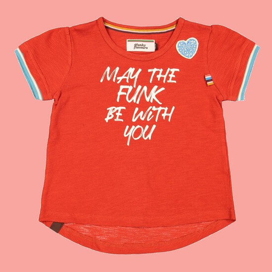 Kindermode 4funkyFlavours Sommer 2020 4funkyFlavours T-Shirt May Funk red #5813