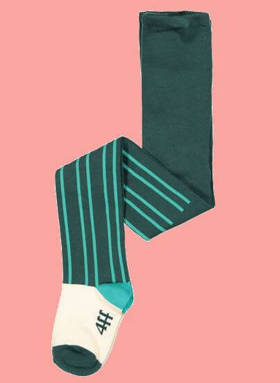 Kindermode 4funkyFlavours Winter 2019/20 4funkyFlavours Strumpfhose green Stripes #5415