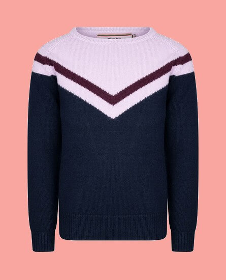 Kindermode 4funkyFlavours Winter 2020/21 4funkyFlavours Strickpullover Let Yourself Go navy #6489