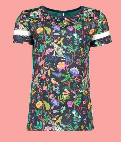 Kindermode B.Nosy Sommer 2020 B.Nosy T-Shirt Jungle girls #5404