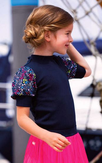 Kindermode B.Nosy Sommer 2021 B.Nosy T-Shirt space blue #5403