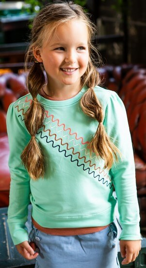 Kindermode B.Nosy Sommer 2021 B.Nosy Pullover / Sweatshirt icegreen #5321
