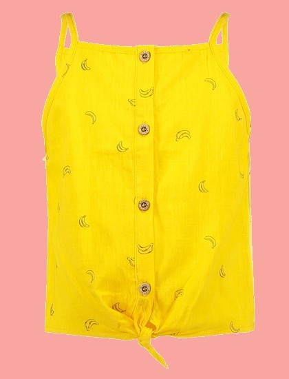 Kindermode B.Nosy Sommer 2021 B.Nosy Bluse / Top Bananas yellow #5460