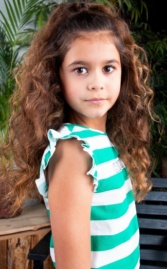 Kindermode B.Nosy Sommer 2021 B.Nosy Bluse / Top Cheerful stripes green #5461