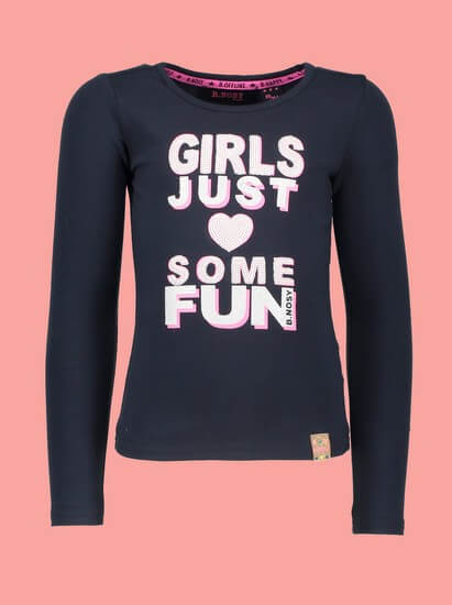 B.Nosy Shirt Girls Fun Peacock navy #5453 von B.Nosy Winter 2018/19