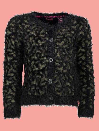 B.Nosy Jacke / Cardigan Panther black #5331 von B.Nosy Winter 2018/19