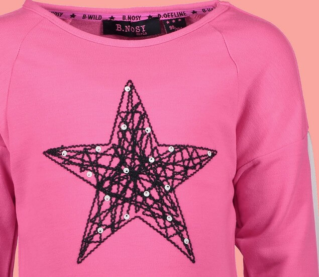 Kindermode B.Nosy Winter 2018/19 B.Nosy Shirt Star pink #5381