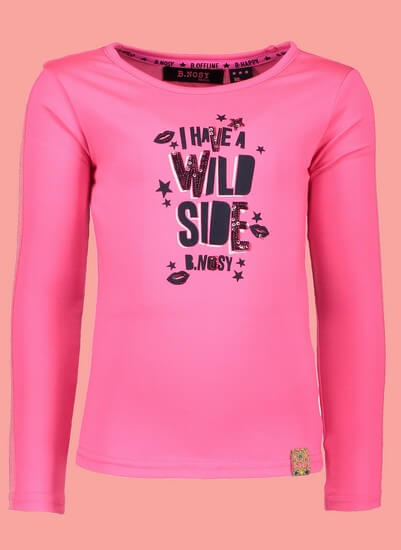 Kindermode B.Nosy Winter 2018/19 B.Nosy Shirt Wild Side pink #5492
