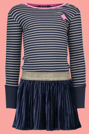 B.Nosy Kleid Peacock navy striped #5824 von B.Nosy Winter 2018/19
