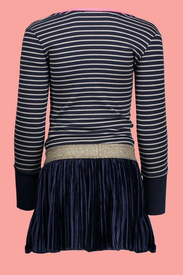 Kindermode B.Nosy Winter 2018/19 B.Nosy Kleid Peacock navy striped #5824