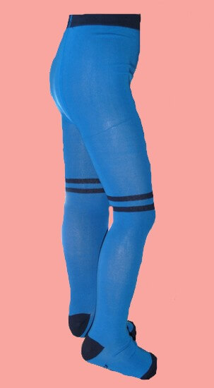 Kindermode B.Nosy Winter 2019/20 B.Nosy Strumpfhose stripes azure blue #5950