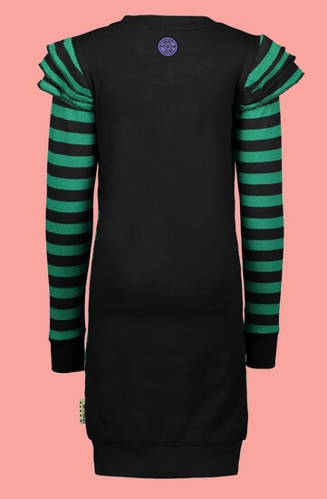 Kindermode B.Nosy Winter 2019/20 B.Nosy Kleid striped green #5810