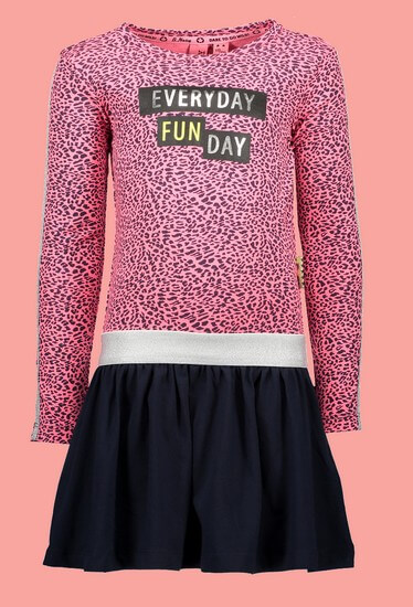 Kindermode B.Nosy Winter 2019/20 B.Nosy Kleid Fun Day pink blue #5822