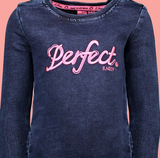 Kindermode B.Nosy Winter 2019/20 B.Nosy Kleid / Jeanskleid Perfect blue denim #5824