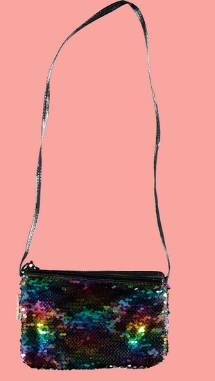 Kindermode B.Nosy Winter 2019/20 B.Nosy Tasche Rainbow metallic #5990