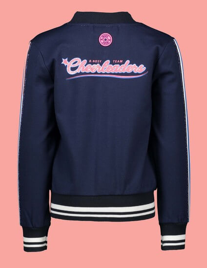 Kindermode B.Nosy Winter 2019/20 B.Nosy Jacke / Sweatjacke Cheerleaders blue #5350