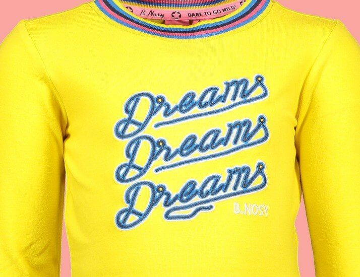 Kindermode B.Nosy Winter 2019/20 B.Nosy Shirt Dreams yellow #5454