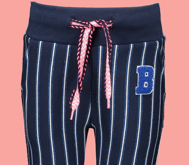 Kindermode B.Nosy Winter 2019/20 B.Nosy Hose / Sweathose stripes blue #5651