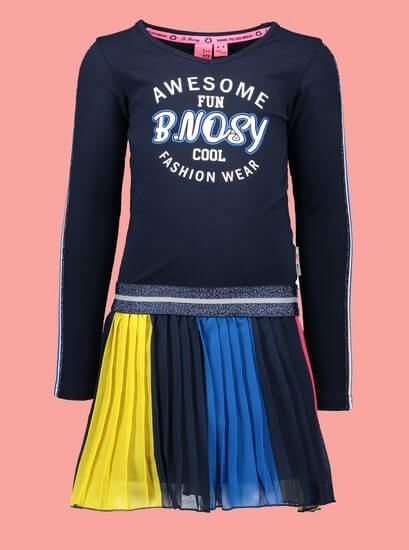 Kindermode B.Nosy Winter 2019/20 B.Nosy Kleid Awesome Fun blue #5853