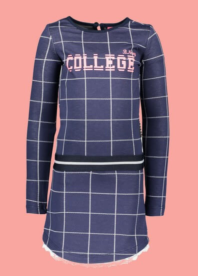 Kindermode B.Nosy Winter 2019/20 B.Nosy Kleid College blue karo #5833