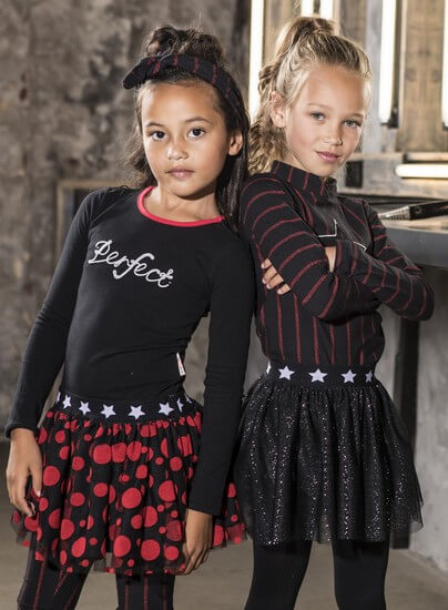 Kindermode B.Nosy Winter 2019/20 B.Nosy Rock / Tüllrock  Glitter black #5704