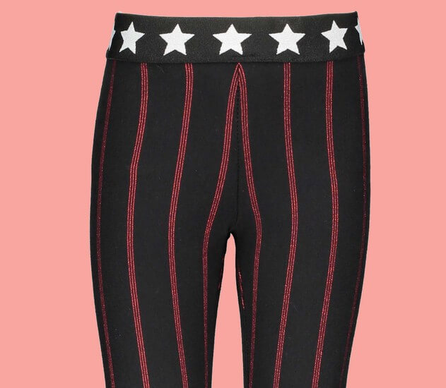 Kindermode B.Nosy Winter 2019/20 B.Nosy Leggings Red Stripes black #5500