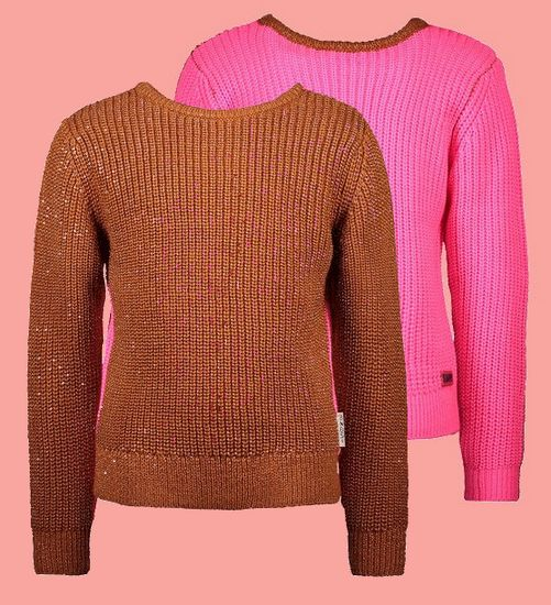 Kindermode B.Nosy Winter 2020/21 B.Nosy Pullover / Strickpullover reversible pink/brown #5380