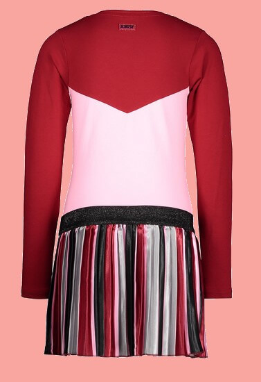 Kindermode B.Nosy Winter 2020/21 B.Nosy Kleid The one red #5872