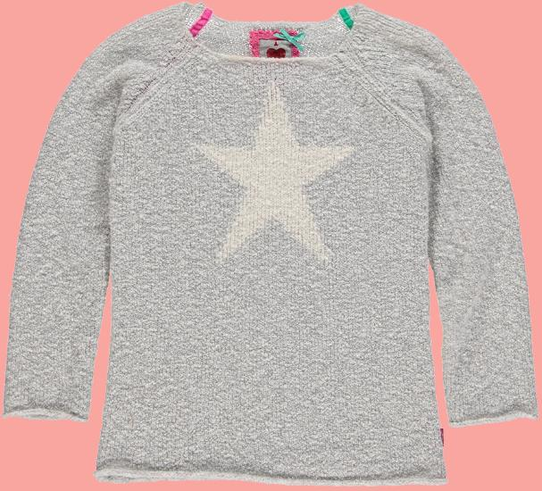 Kindermode Bomba for Girls Winter 2015/16 Bomba for Girls Pullover Star grey-melange #262