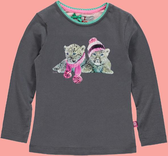 Kindermode Bomba for Girls Winter 2015/16 Bomba for Girls Shirt Tigertwins graphite #266