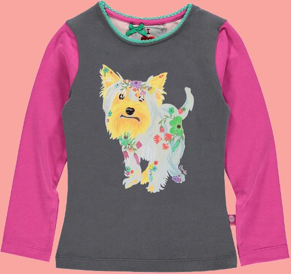 Kindermode Bomba for Girls Winter 2015/16 Bomba for Girls Shirt Flower Dog graphite #274