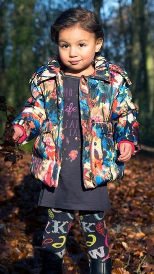 Kindermode Cakewalk Mini Winter 2015/16 Cakewalk Winterjacke / Mantel Blossom grape #7201