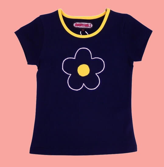 Happy Nr.1 T-Shirt Flower darblue #104 von Happy Nr.1 Sommer 2019