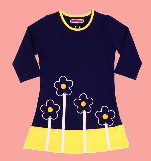 Happy Nr.1 Kleid Flowers darkblue #107 von Happy Nr.1 Sommer 2019