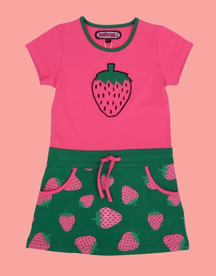 Kindermode Happy Nr.1 Sommer 2019 Happy Nr.1 Kleid Strawberry pink/green #128