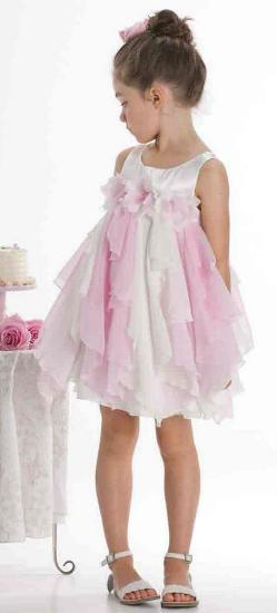 Kindermode Kate Mack / Biscotti Sommer rosa Kate Mack Kleid #155