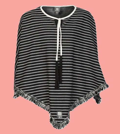 KieStone Poncho / Cape stripe-dot #4631  von Kiezeltje Winter