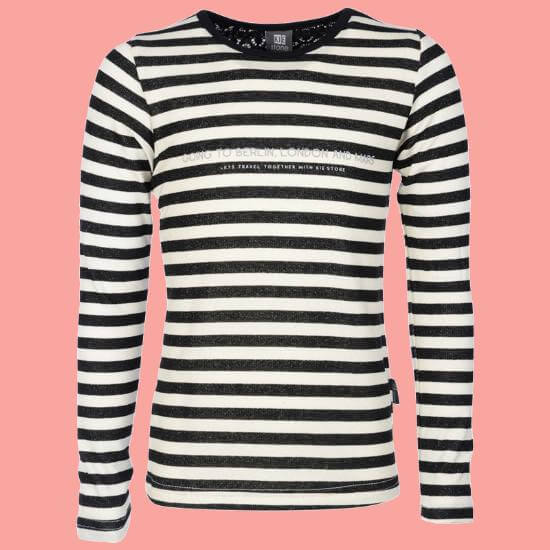 Kindermode KieStone Winter 2017/18 KIE Stone Shirt black offwhite striped #5156