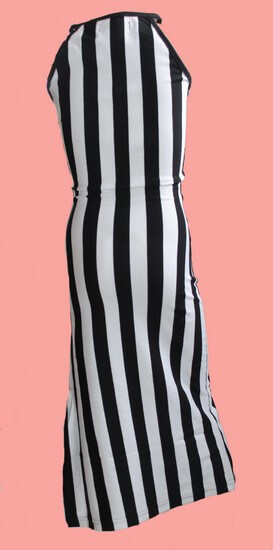 Kindermode LavaLava Sommer 2019 Lavalava Kleid Catwalk black and white stripes #150