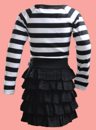 Kindermode LavaLava Sommer 2019 Lavalava Kleid Got to love black and white #133
