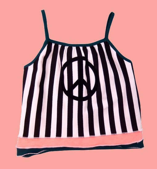Kindermode Vorbestellung LavaLava Sommer 2019 Lavalava Top / T-Shirt Topmodel black and white stripes #147