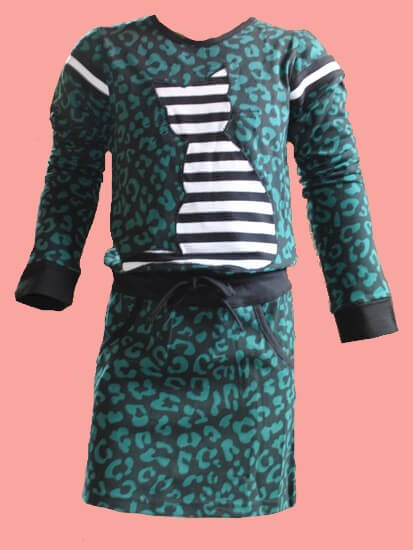 Kindermode LavaLava Winter 2019/20 LavaLava Kleid Sporty Cat petrol #249