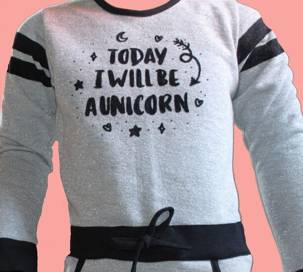 Kindermode LavaLava Winter 2019/20 LavaLava Kleid Unicorn light grey #231