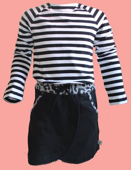 Kindermode LavaLava Winter 2019/20 LavaLava Kleid Stripes Black and White #214