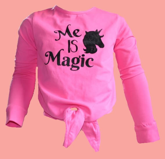 Kindermode LavaLava Winter 2019/20 LavaLava Shirt Me is Magic fuchsia #235