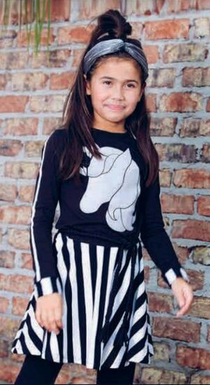 LavaLava Kleid Unicorn black and white #215 - Winter 2019/2020