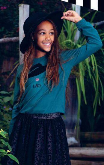 Kindermode LavaLava Winter 2019/20 LavaLava Shirt Lady Hat petrol #207