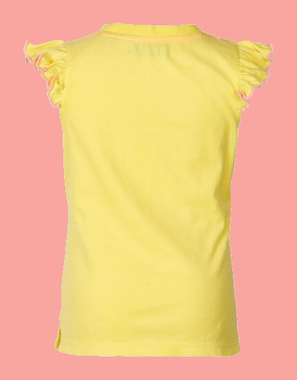 Kindermode Le Big Sommer 2020 Le Big T-Shirt Saskia Be a Poem yellow #211