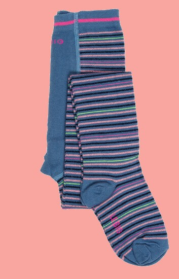 Kindermode Le Big Winter 2020/21 Le Big Strumpfhose Tallin stripes blue #091